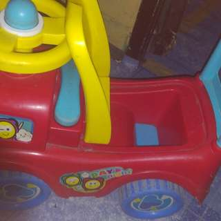 Ride on car and potty trainer