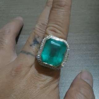 Cincin emerald/zamrud colombia
