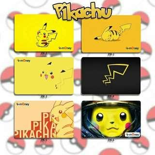 Custom Emoney Flazz dan Brizzi card design Pikachu 1