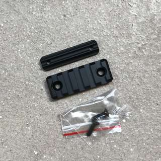 1 piece only! Brand Metal 5 slot 20mm rail with mounting plate for WBB Nerf