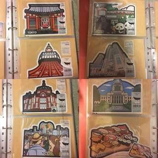 日本郵便局當地特色明信片 東京
