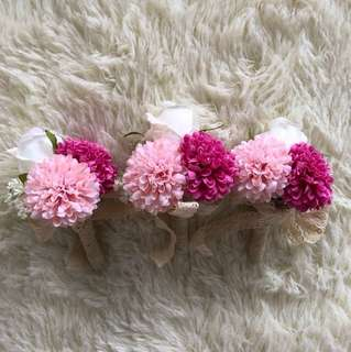 Blush Pink x Fuchsia Corsage