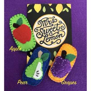 Hair Accessories by Mrs. Sweet Lemon - Fruit Edition