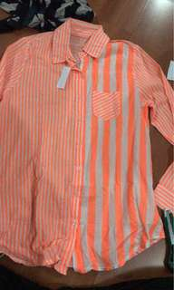 Orange stripes shirt