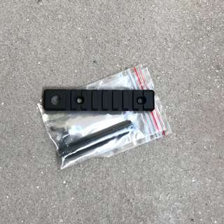 1 piece only! Brand Metal 8 slot 20mm rail with mounting plate for WBB Nerf