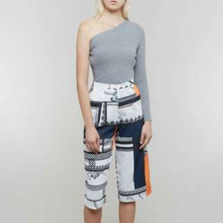 Mds one arm knit top (grey color)