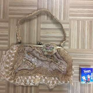 Vintage Laces Handbag (light brown)