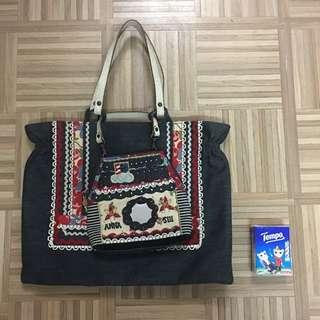 Anna Sui Denim Handbag