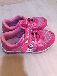 CNY promo! Almost new Pink hello kitty sneakers for girl
