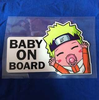 Waterproof reflective baby on board sticker - Naruto Version Edition 2018 18x11cm