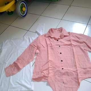 Baju putih & baju kemeja