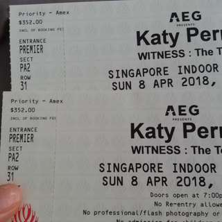 Catg 1 katy Perry witness 2018 concert tickets