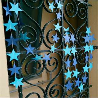 (Wholesale) 4m Blue star garland