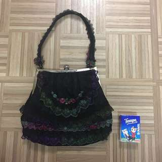 Vintage Laces Handbag (black)