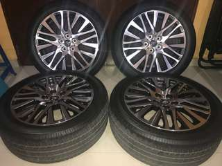 "Vellfire Alphard  18"" Inch Sport Rim Original Toyota Genuine Parts Made In JAPAN  *Used Item (Remove From New Car) *For Vellfire Alphard 20,30 Series  *Size 18""Inch X 7.5jj Offset 45"