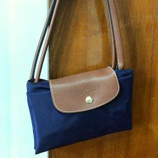 Longchamp purple tote bag