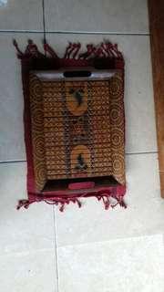 Nampan bambu motif batik