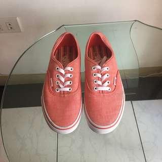 Orange Vans sneakers