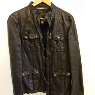男裝皮褸 Leather Jacket 意大利 SANTACROCE
