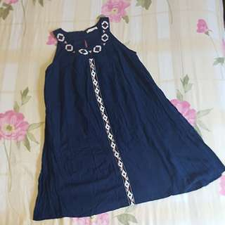 Fox Dark Blue Dress for Girls.