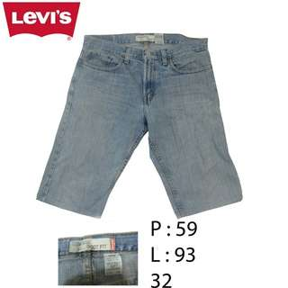 Celana Pendek Jeans Levi Strauss 527 Made In Mexico Original