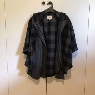 Country road check poncho