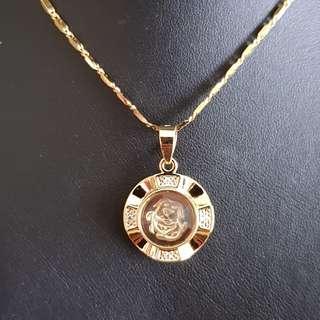 Chinese dog zodiac lucky charm pendant (时来运转生肖) Gold