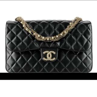 Chanel Westminster Quilted Lambskin Medium Pearl Chain Flap Bag