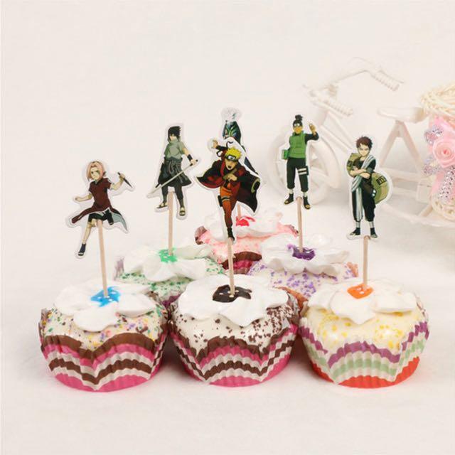 12 Pcs Naruto Ninja Anime Cupcake Toppers Cake Topper