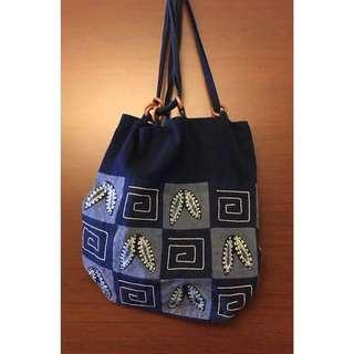 🚚 幾何棉料手提袋