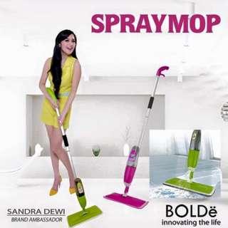 Spray Mop Bolde Alat Pel Spraymop Pembersih Lantai Kering