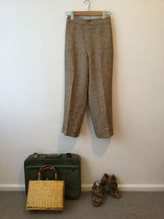 Vintage cropped high waisted pants