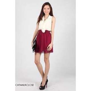 Fayth chiffon flounce skirt