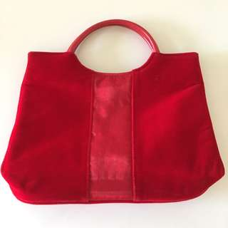 CLARINS RED TOTE BAG
