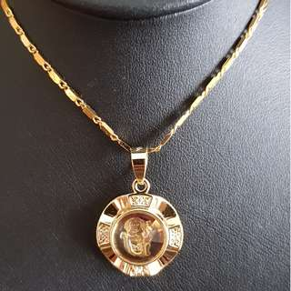 Chinese Monkey zodiac lucky charm pendant (时来运转生肖) Gold