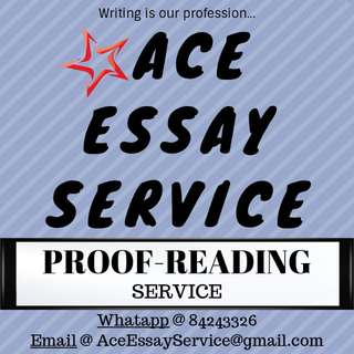 [FREE] Proofread Service 👍 essay assignment