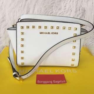MK Studded Selma Sling Bag