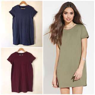 Folded-Cuff T-Shirt Dress