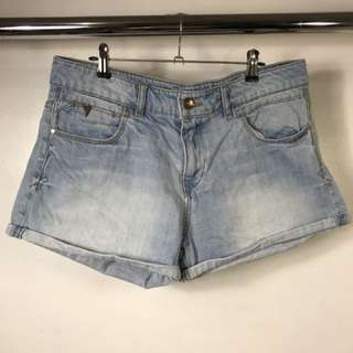 PULL & BEAR Cuff Denim Shorts