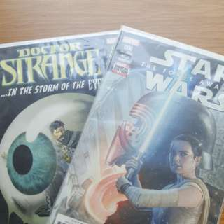 marvel short comics: star wars-the force awakens/doctor strange in the storm of the eye