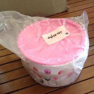 tupperware floral pink cover