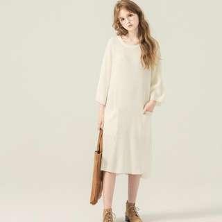 🚚 <轉賣> PAZZO 長版寬鬆雙口袋造型針織毛衣