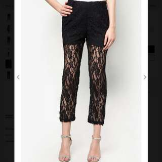 Lace pants (black)