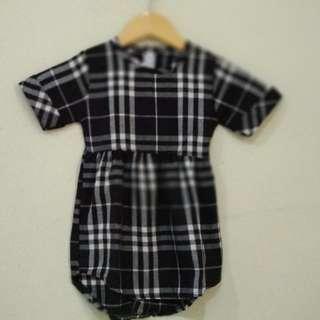 Dress Kotak Hitam New 2th