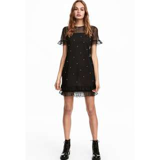 H&M Mesh dress with beads