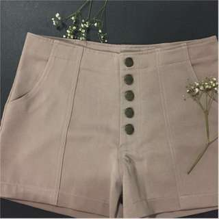 nude brown hws (high waisted shorts)