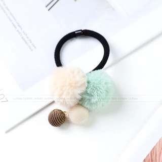Fur ball Korean Hair Tie