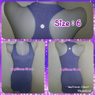 Lululemon Athletica Racerback Tank - size 6/Small