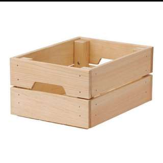 RENTAL OF WODDEN CRATE BOX from IKEA