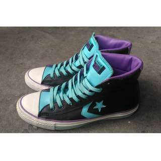 Converse Black and Blue Green